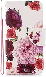 Nadoli Colorful Flip Case for Samsung Galaxy A52,Peony Flower Painted Pu Leather Bookstyle Magnetic Wrist Strap Wallet Cas...