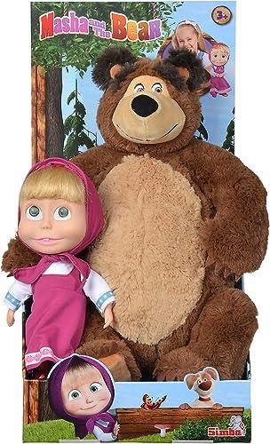 Simba 109301016 Mascha und der B Set Plüschb Puppe   Plüschtier