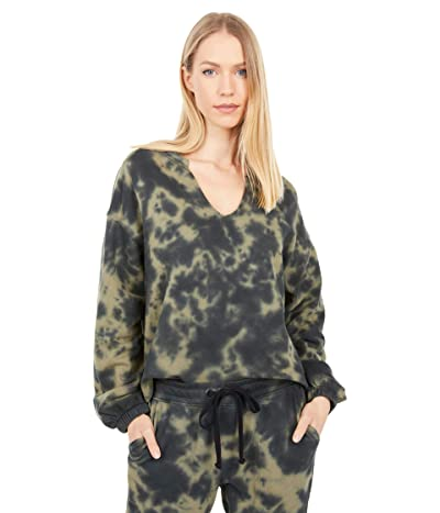 Sanctuary Perfect Sweatshirt (Organic Green/Black Tie-Dye) Women