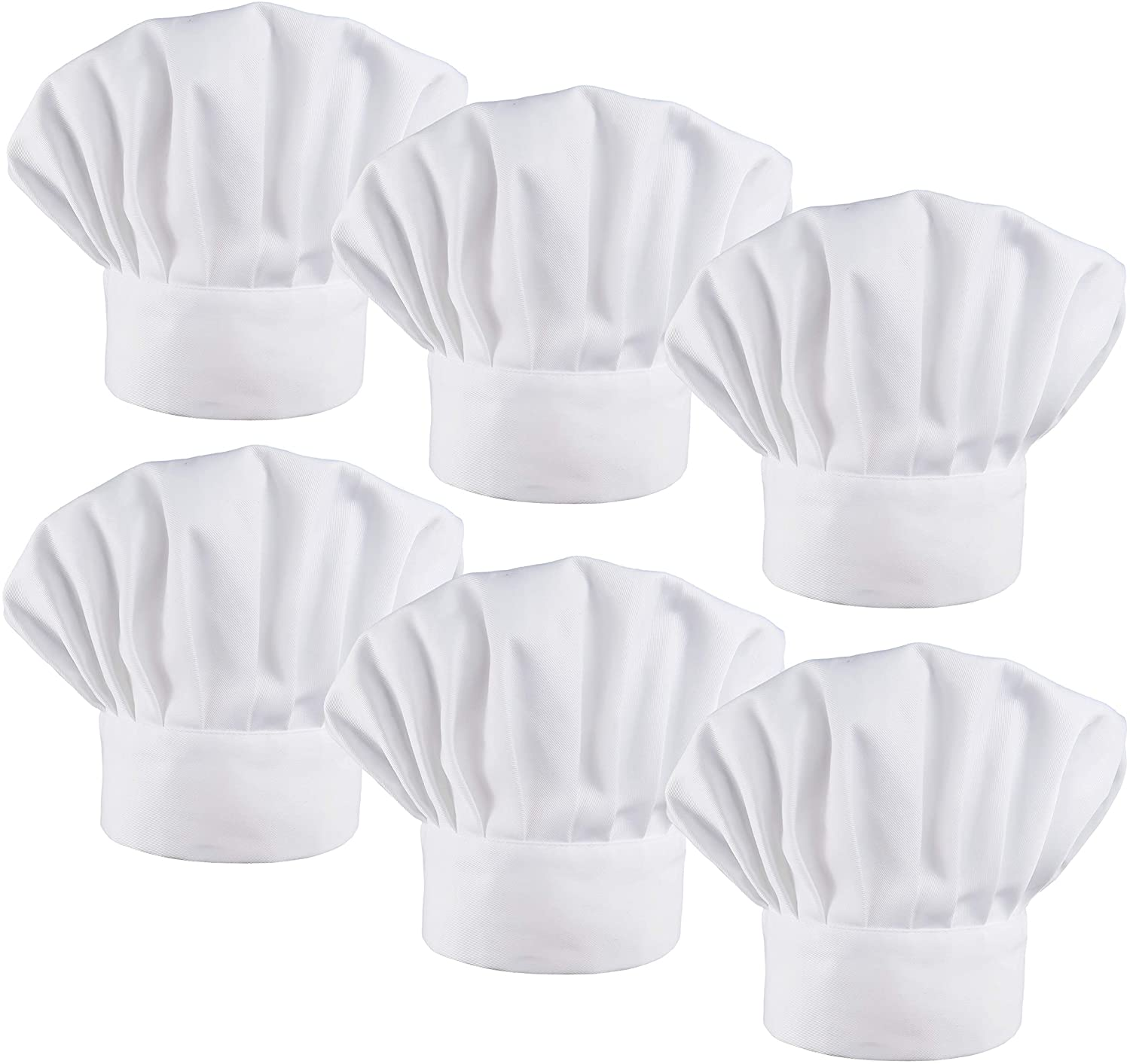 LilMents 6 Pack Chef Hat San Antonio San Diego Mall Mall Set Kitchen Baker Cook Elastic Catering