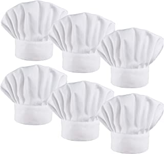 6 Pack Chef Hat Set Elastic Baker Kitchen Catering Cooking Chefs Hats