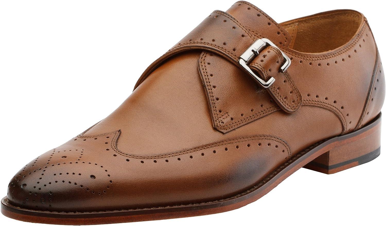 3DM Lifestyle Men's Monk Strap Wing-Tip shoes