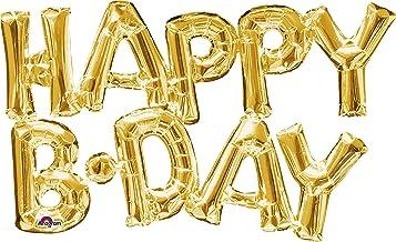 "Burton & Burton 30"" Happy Birthday Gold Foil Balloon"