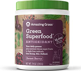 Amazing Grass Green Superfood Antioxidant: Super Greens Powder with Spirulina,..