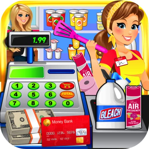 Dollar Store Cash Register Sim - Kids Supermarket Cashier & Shopping Mall Games FREE