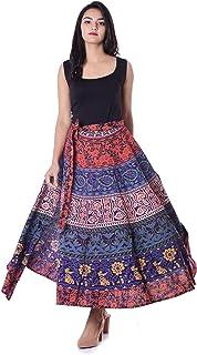 HANDICRAFT-PALACE Mandala Printed Women's Regular Fit Rapron Free Size Wrap Around (Violet)