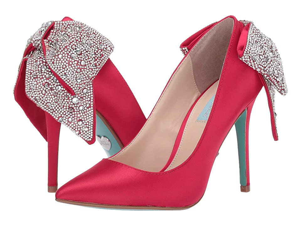 Blue by Betsey Johnson Bryn Pump (Red Satin) Women