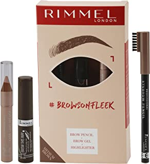 Rimmel London, Brow On Fleek Brow Kit, Medium Brown