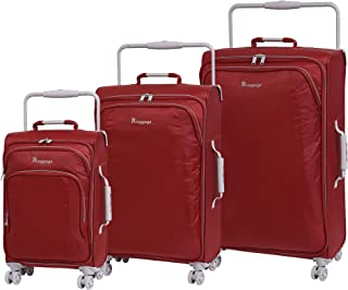 IT Luggage World's Lightest 8 Wheel 3 Piece Set, Bossa Nova With Vapor Blue Trim