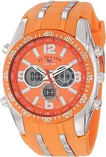 U.S. Polo Assn. Sport Men's US9285 Orange and Silver-tone Watch