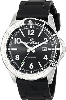 リップカール Rip Curl Men's A2711 - BLK RAGLAN PU - BLACK Analog Display Quartz Black Watch [並行輸入品]