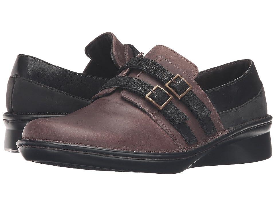 eb4cadb23247 Naot Celesta (Brown Haze Leather Black Raven Leather Oily Coal Nubuck Black