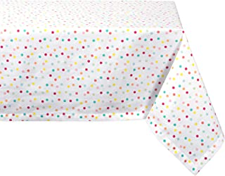 DII Multi Polka Dots Print Table, 60 x104 Inches