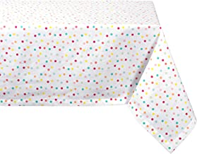 """DII Cotton Tablecloth for for Dinner Parties, Weddings & Everyday Use, 52x52"""", Polka Dots"""
