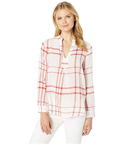 Liverpool Pop-Over Long Shirt (Red/White Plaid) Women