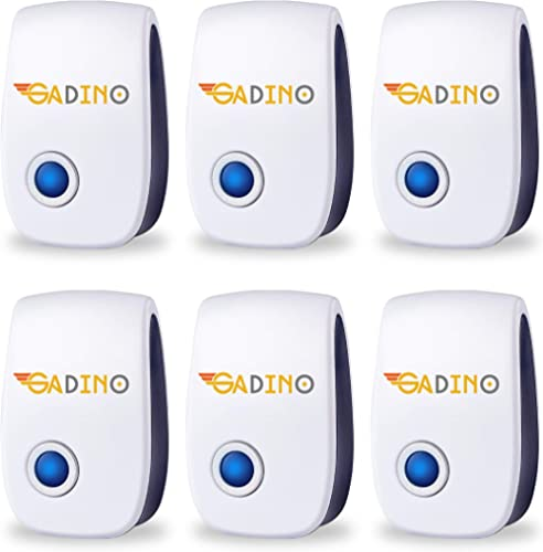 GADINO Ultrasonic Pest Repeller for Indoor - Pest Control 6 Packs - Pest Repeller for Mice, Mosquitoes, Rats, Spiders...