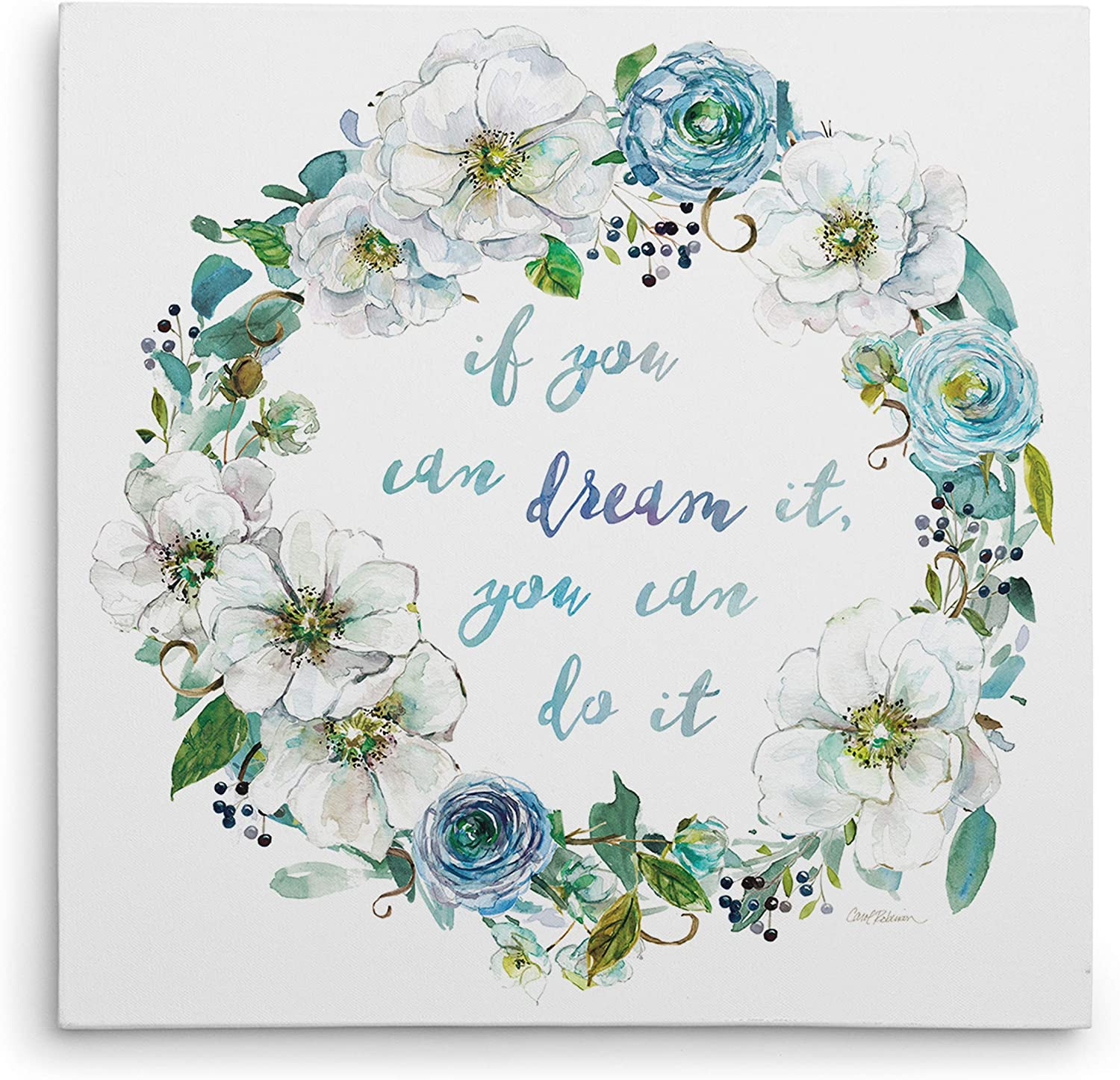 Max 47% OFF WEXFORD HOME Dream Wreath Gallery Canvas Wrapped Wall Discount is also underway Art 32x32
