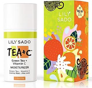 LILY SADO TEA+C Green Tea and Vitamin C Face Moisturizer - Natural Organic Vegan Facial Cream - Best Antioxidant, Anti-Wri...