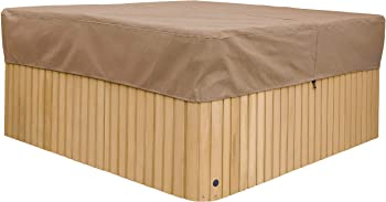 Duck Covers Essential Water-resistant Square Hot Tub Cover