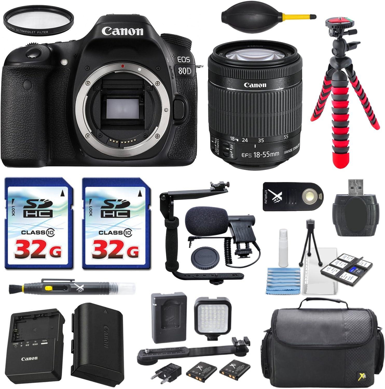 Canon EOS 80D 24.2MP Fresno Mall DSLR Digital Overseas parallel import regular item with 18- EF-S SLR Camera