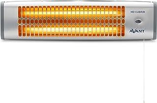 AVANT AV7555 - Estufa Eléctrica De Cuarzo De Baño 800w. con 2 Tubos De Cuarzo, 2 Niveles De Potencia 400w Y 800w, Interrup...
