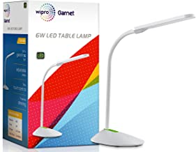 Wipro Garnet 6W LED Table lamp-3 Grade dimming and Color Changing(Cool Day Light/Neutral White/Warm White)