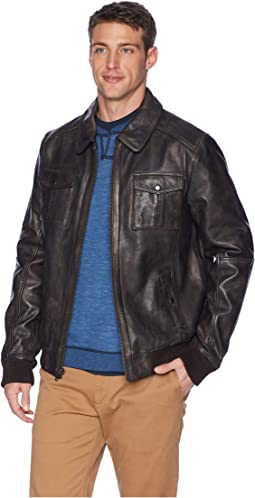 James Distressed Leather Jacket