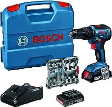 Bosch Professional 18V System Taladro percutor a batería GSB 18V-55 (par de torsión máximo 55 Nm, incl. 2x2.0 Ah batería +...