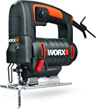 WORX WX477.1 decoupeerzaag, 550 W, voor het zagen van hout, staal en aluminium, ideaal voor verstekzagen, met geïntegreerd...