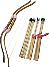 Adventure Awaits! - 2-Pack Handmade Girls Wooden Bow and Arrow Set - 20 Wood Arrows and 2 Quivers - for Outdoor Play