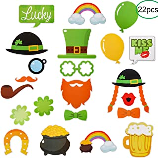 CCINEE Funny St. Patricks Day Photo Booth Props Kit - Irish Day Party Supplies - St. Patty's Day Party Favors