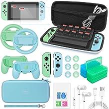 Conjunto de acessórios 26 em 1 para Switch Animal Crossing, acessórios com estojo de transporte, protetor de tela, alças d...