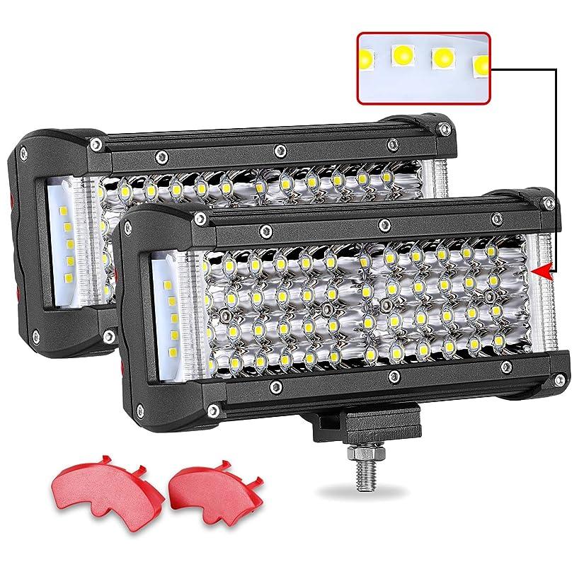 LED Light Pods, Teochew-LED 2Pcs 7 Inch 232W LED Light Bar Side Shooter LED Pods Off Road Flood Spot Combo Light Bar for Truck Jeep ATV UTV 4x4 Boat, 2 Years Warranty
