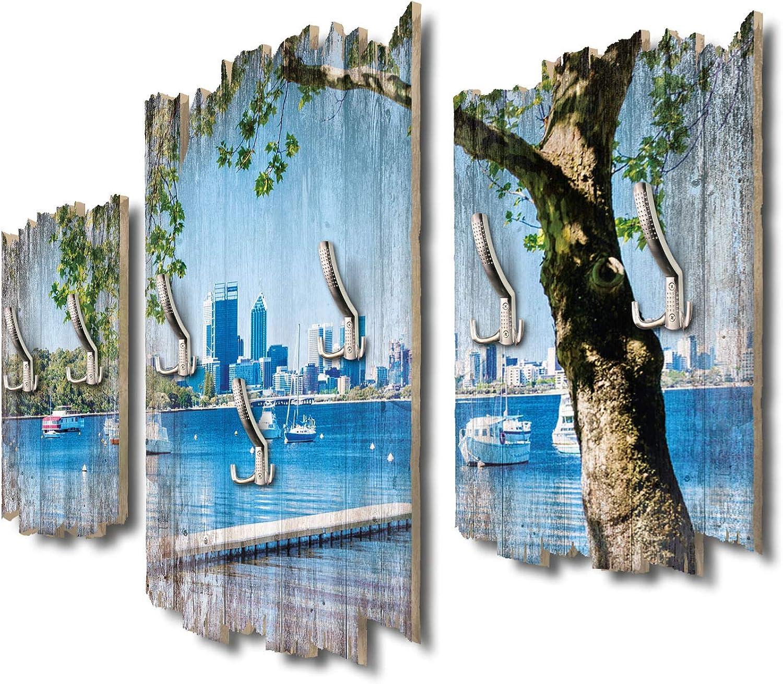 Kreative Feder Matilda Bay Australien Designer Wandgarderobe Flurgarderobe Wandpaneele 95 x 60 cm aus MDF-Holz DTGH021