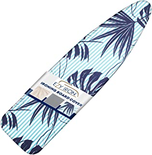 Ezy Iron Ironing Board Cover and Pad Thick Padding, Heat Reflective Fits Small, Standard Size and Extra Wide Large Iron Bo...