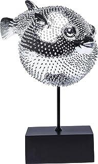 Kare Design Figurine en Forme de Poisson Clown Argenté 29 x 24 x 16 cm