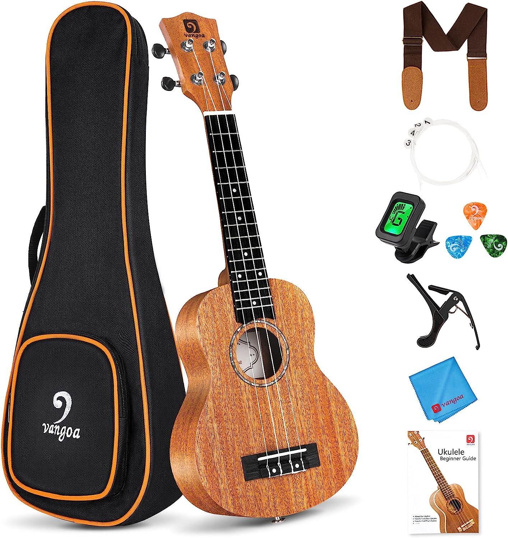 Mail Max 46% OFF order cheap Vangoa Soprano Ukulele Beginner Kit Mahogany Ha 21 Inch Acoustic