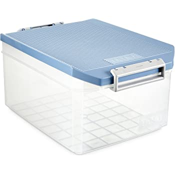 Keter W Box - Caja de almacenamiento, 15 litros, S, color lila ...