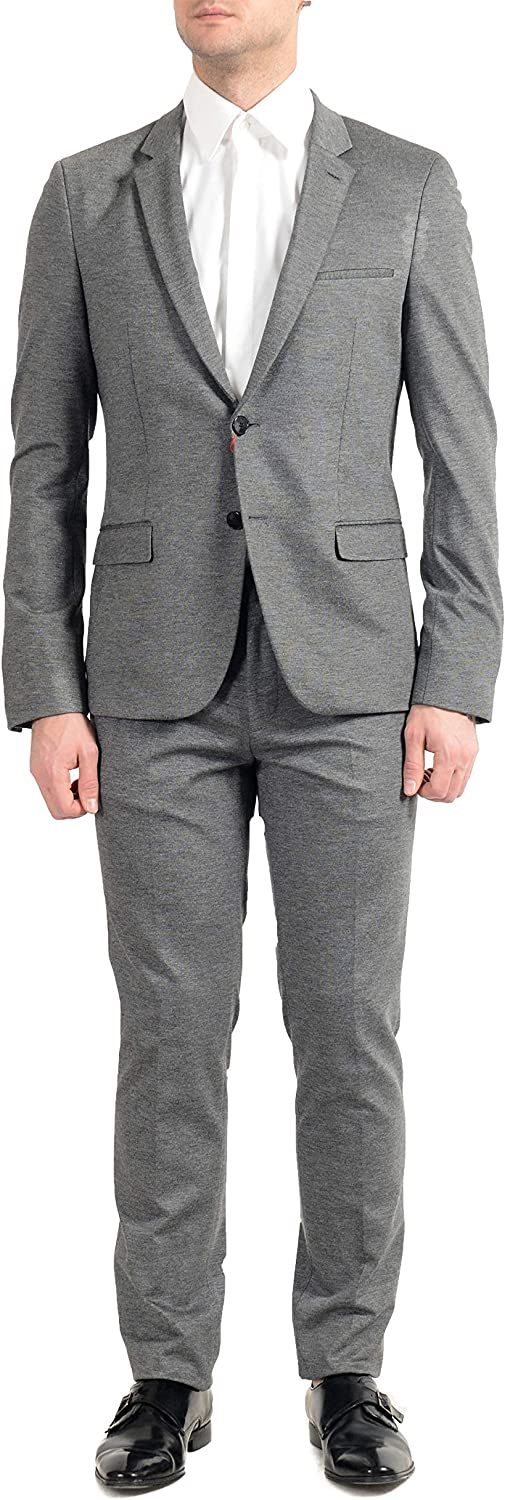 Hugo Boss Anfred/Heiron192J Men's Gray Extra Slim Two Button Suit US 44R IT 54R