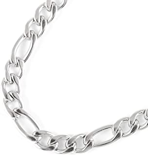 JFSG 316L Stainless Steel Figaro Chain Necklace For Men...