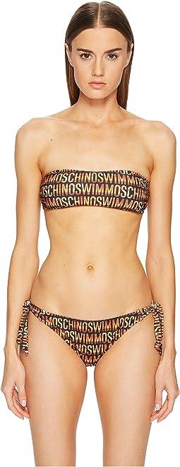 Moschino Sunset Print Bandeau Bikini