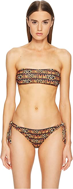 Sunset Print Bandeau Bikini