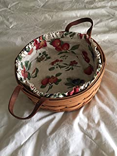 Longaberger Darning Basket w/Fruit Medley Liner