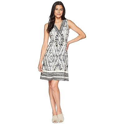 Hale Bob Feel The Heat Matte Microfiber Dress (Beige) Women