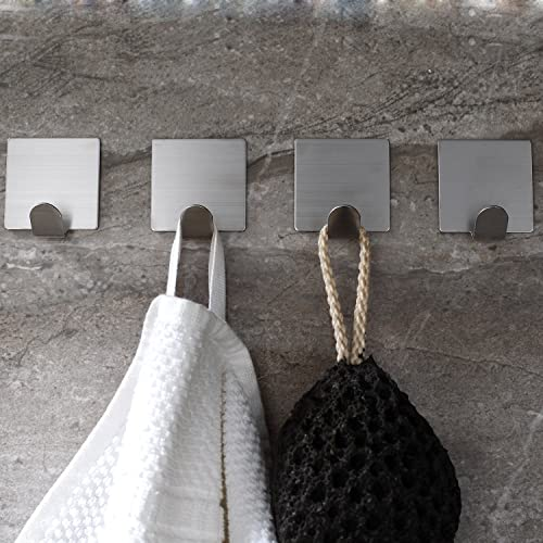 Ruicer Serviettes Crochets Adhésif Inox Autocollant Cuisine de Salle de Bain 4 pièces