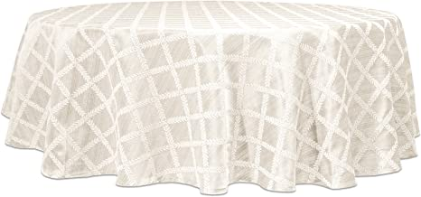 "Lenox Laurel Leaf 70"" Round Tablecloth, White"