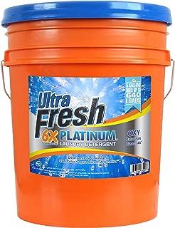 Ultra Fresh UFPTTBAL Platinum Bleach Alternative Liquid Laundry Detergent, HE, 5 gal, 640 oz.