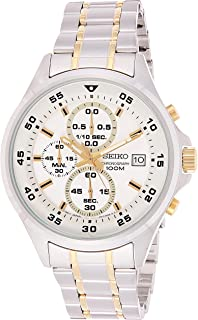 Seiko Womens Quartz Watch, Chronograph Display and Stainless Steel Strap SKS629P1