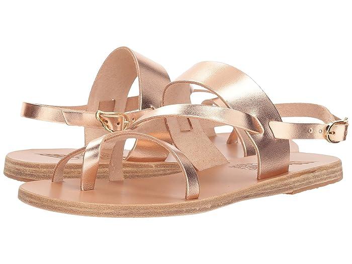 Ancient Greek Sandals  Alethea (Pink Metal Vachetta) Womens Sandals