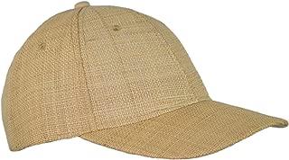 Natural Raffia Baseball Hat Breathable Woven Straw Adjustable Trucker Cap
